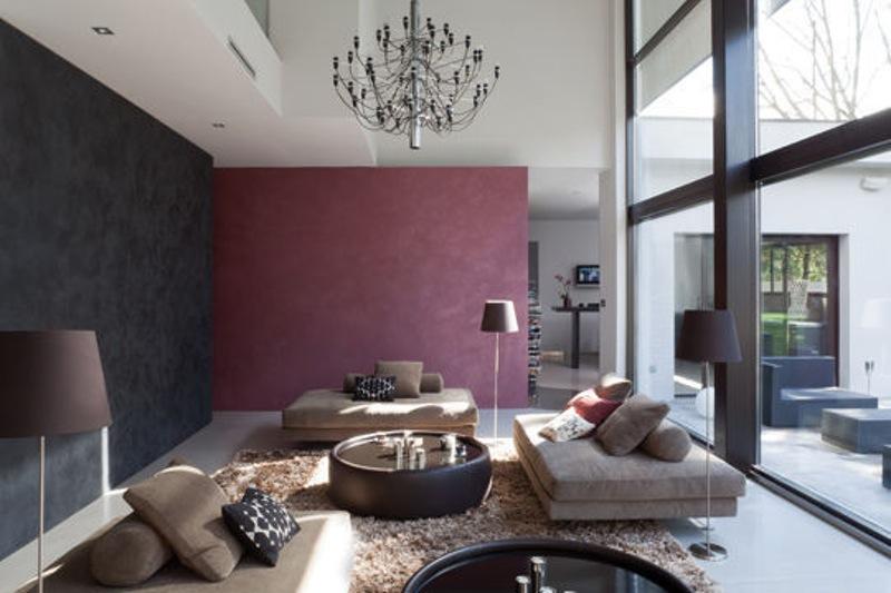Beautiful Model Epeinture Salon Moderne Contemporary - House ...